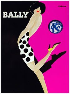 "Sexy Polka Dots Dress, Bally Ad Decorative Poster.Fine Graphic Art Design. 2978,Size:11""X17"""