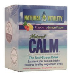 Natural Vitality Natural Calm Packets Diet Supplement, Raspberry Lemon, 30 Count