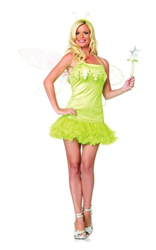 Leg Avenue Womens Pixie Tinkerbell Fairy Outfit Fancy Dress Sexy Costume