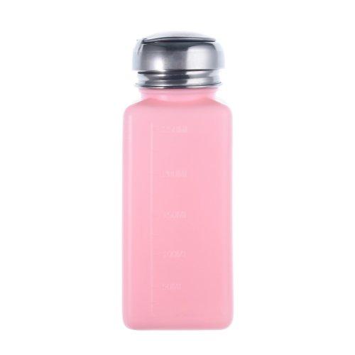 So Beauty 1pcs Empty Pump Dispenser For Nail Art Polish Remover 200ML Bottle—Pink