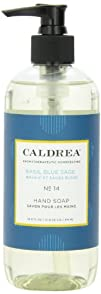 Caldrea Hand Soap Liquid Basil Blue Sage 10.8-Ounce Bottle