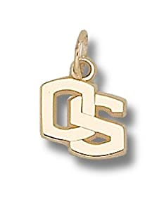 Oregon State Beavers 3 8 OS Charm - 14KT Gold Jewelry by Logo Art
