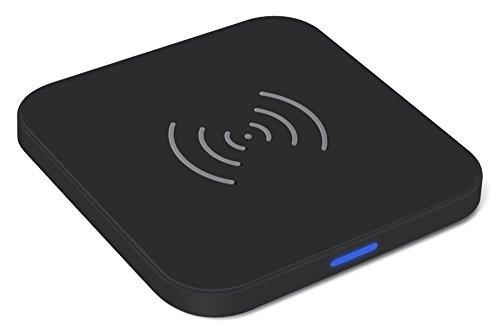 Caricabatterie Wireless QI Choetech® - Caricatore Qi Wireless Senza Fili - Rivestimento in Gomma Antiscivolo - Indicatore LED - Cavo USB Incluso - Per Samsung Galaxy Note 7, Note 5, S6 Edge+/S7 Edge, S6/S6 Edge, Nexus 4/5/6, Lumia 950/950xl, e tutti gli altri dispositivi compatibili con la tecnologia di ricarica Wireless QI - Nero