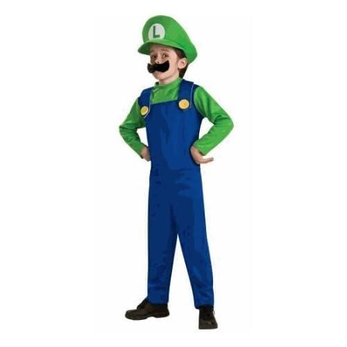 Super Mario, Luigi Costume Size Boy Medium (8)