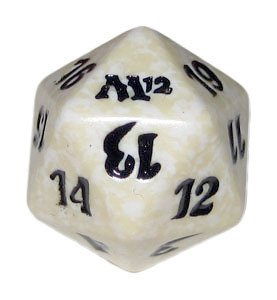 MTG Spindown D20 Life Counter - M12 Magic 2012 White