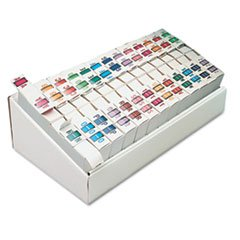 - A-Z Bar-Style End Tab Labels, Assorted, 13000/Box
