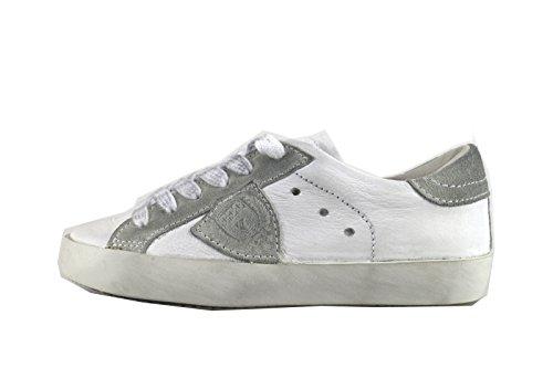 PHILIPPE MODEL sneakers bambino bianco pelle camoscio AH965 (33 EU)