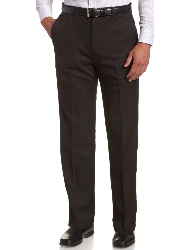 Haggar Men's Cool 18 Hidden Expandable Waist Plain Front Pant