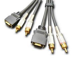 【クリックでお店のこの商品のページへ】フジパーツ D端子音声付ケーブル 1D/2ピン-1D/2ピン 1.5m FVC-DV715