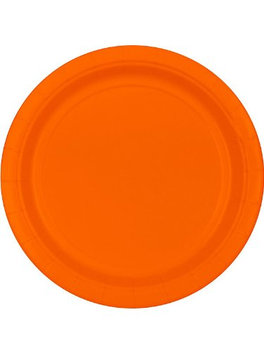 """Orange 9"""" Paper Plates, 20ct."""