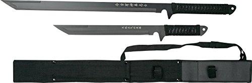 BladesUSA HK-1067 Twin Ninja Swords, Black, 18-Inch and 26-Inch Lengths