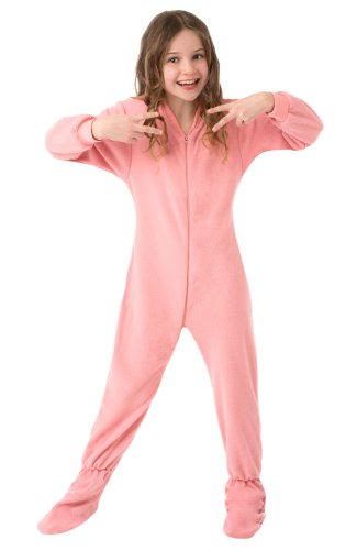 Big Feet Pjs (503) Infant - Toddler Pink Fleece Footed Pajamas 12M - 4T (18M) front-613624