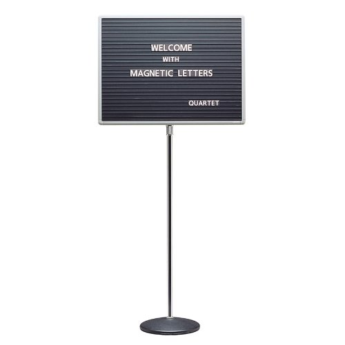 Quartet 7920M Quartet Adjustable Single-Pedestal Magnetic Letter Board, 20 x 16, BLK/GY Frame (Pedestal Letter Board compare prices)