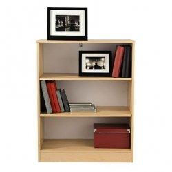 Small Bookcase Beech 3 Open Shelves Kitchen