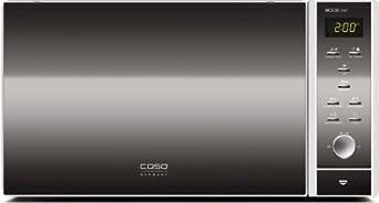 CASO MCG30 chef Design Mikrowelle 3in1 - mit neuer Heißlufttechnik für ein besseres Backergebnis - erhitzen, auftauen, backen und grillen in einem Gerät!
