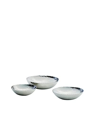 Torre & Tagus Set of 3 Nia Scalloped Edge Bowls