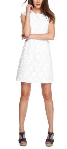 s.Oliver Damen Kleid 14.404.82.5955, Knielang, Einfarbig, Gr. 38, Weiß (white 0100)