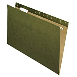 Hanging File Folders, 1/5 Tab, Legal, Standard Green, 25/Box, Sold as 25 Each