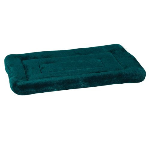 Slumber Pet Plush Crate Dog Mat, Large, 32-Inch, Hunter Green front-807981