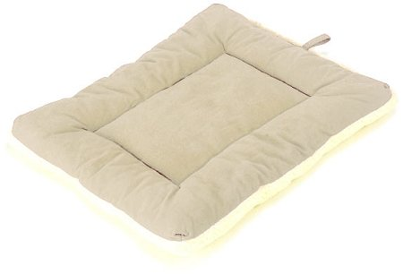 Pet Dreams Classic Sleep Ezz Dog Crate Pad Bed Rest Mat - Extra Large / Khaki front-41455