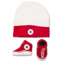 Converse Cappello per neonato / calzino set (0-6 mesi) - rosso