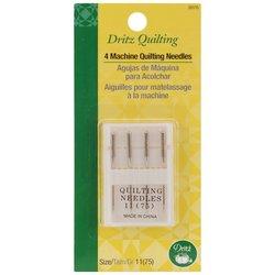 Dritz Machine Quilting Needles, Size 11, 4-Pack