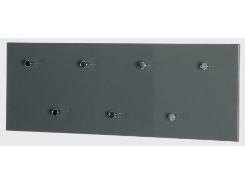 HAKU-Mbel-42190-Wandgarderobe-80-x-55-x-30-cm-grau-chrom-nickel