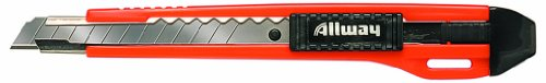 Allway Tools 9-mm Neon 13-Point Deluxe Snap Off Knife with 3 Blades