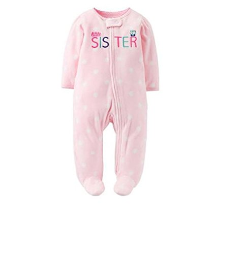 Carters Preemie Baby Girl Micro Fleece Sleeper One Piece (Preemie, Pink ( Little Sister)) (Child Of Mine Clothes compare prices)