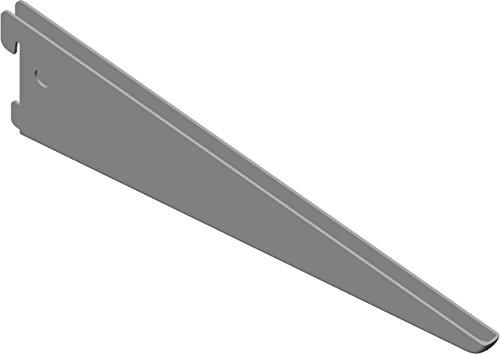 Element System U-Träger Regalträger 2-reihig, 2 Stück, 5 Abmessungen, 3 farben, lange 27 cm für Regalsystem, Wandschiene, weißaluminium, 18133-00036