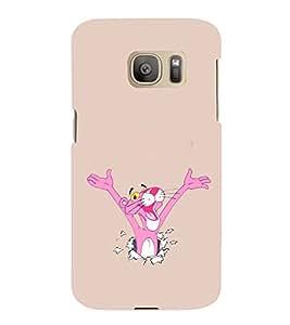EPICCASE Panther pink Mobile Back Case Cover For Samsung Galaxy S7 Edge (Designer Case)