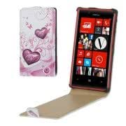 Hearts Pattern Vertical Flip Leather Case for Nokia Lumia 720