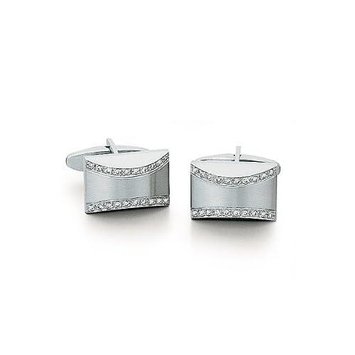 Solid 14k White Gold Cufflinks   Solid 14k White Gold Diamond Cufflinks