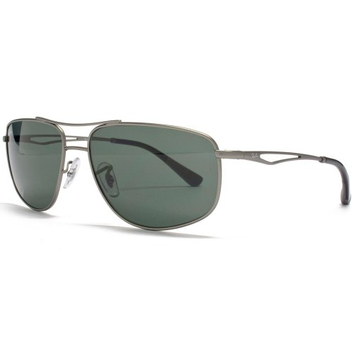 Ray-Ban Fine Frame Sunglasses in Gunmetal Green