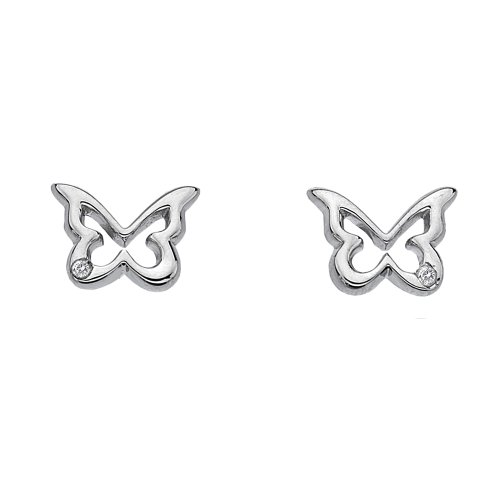 Hot Diamonds Paradise Butterfly Stud Earrings