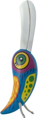 Pylones Tropical Bird Butter Knife / Cheese Spreader, Blue Multi-Colored