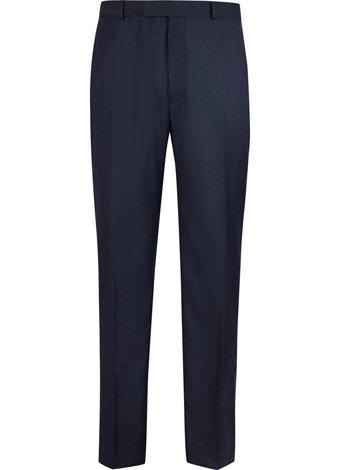 Austin Reed Contemporary Fit Blue Sharkskin Trouser SHORT MENS 34