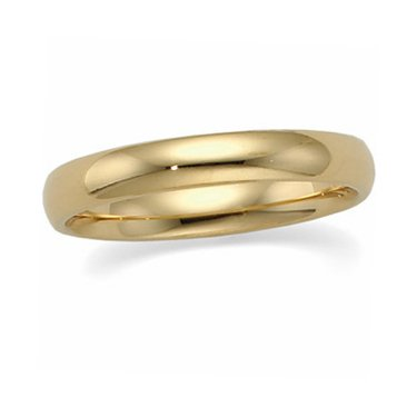 18K Yellow Gold, Light Comfort Fit Wedding Band 4MM (sz 10.5)