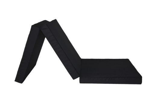 3889211117 Gästematratze, 3-teilige Klappmatratze, 196 x 65 cm, schwarz