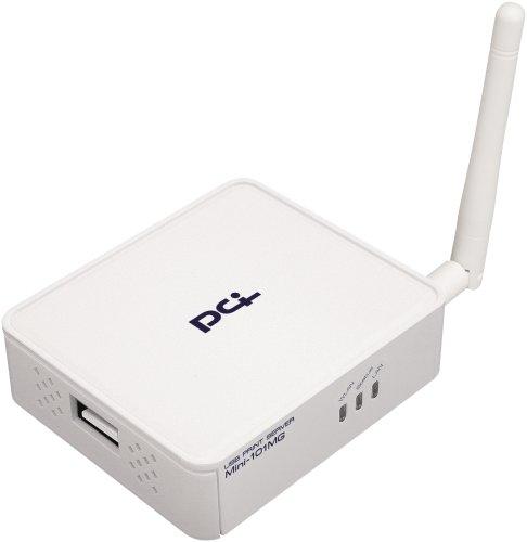 PLANEX 双方向通信対応 有線・無線 USB2.0プリントサーバ Mini-101MG
