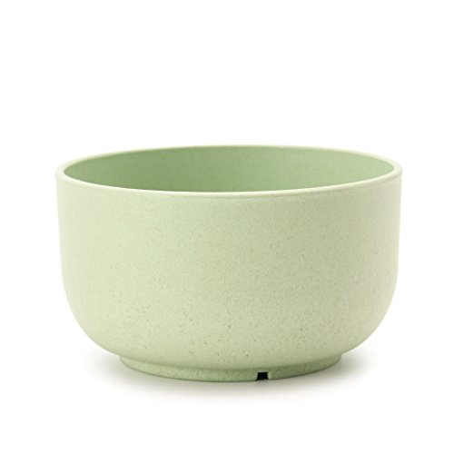 Maison Maxx Eco Friendly Healthy Wheat Straw Plastic Bowl for Soup, Popcorn, Fruit, Salad(1pcs, 15oz, Green)