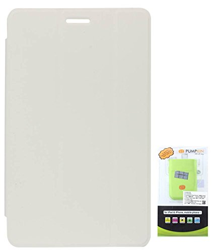 DMG Tri-Fold Smart Case For Lenovo Ideatab A1000 (White) + 6600 MAh PowerBank