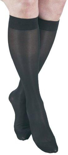 ITA-MED Sheer Knee Highs, Compression(20-22 mmHg), Black, XX-Large, 2 Count