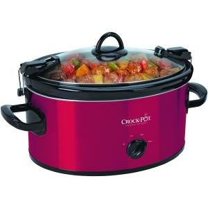 New Crock-Pot Sccpvl600-R 6-Qt Oval Manual Red Portable Slow Cooker Dishwasher Safe Stoneware & Lid