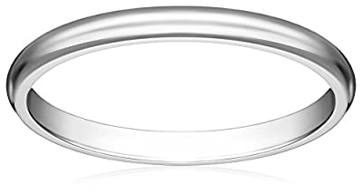 Women's 10k Gold Traditional Plain Wedding Band (2 mm)