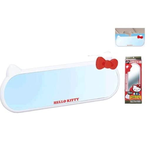 Sanrio Hello Kitty White Rear View Mirror (White Ear and Red Bow)