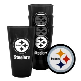 Pittsburgh Steelers Plastic Pint Glass Set at Steeler Mania