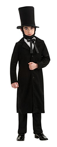 Child's Deluxe Abraham Lincoln Costume Size Large (12-14)