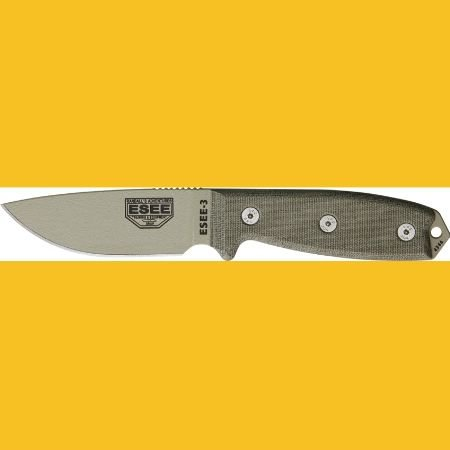 ESEE Knives 3PKODT Model 3 Standard Edge Fixed Blade Knife w