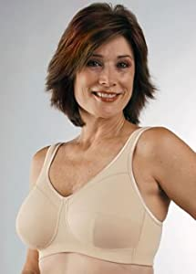 Classique Full Figure Cotton Knit Pocket (Mastectomy) Bra